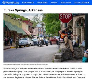 Eureka Springs is one of the 13 Best Small Towns in America